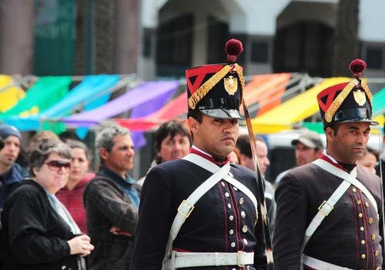 """Cambio de Bandera (Ganadora del concurso """"La foto de la Marcha"""")"""